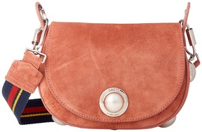 Sonia Rykiel Suede Leather Saddle Bag