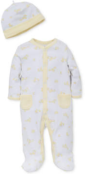 Little Me 2-Pc. Ducks Hat & Footed Coverall Set, Baby Girls (0-24 months)