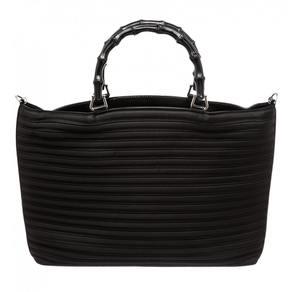 Gucci Bamboo cloth satchel - BLACK - STYLE