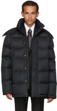 Brioni Black Down Hooded Puffer Jacket