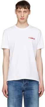 Ami Alexandre Mattiussi White F.Ami.Ly T-Shirt