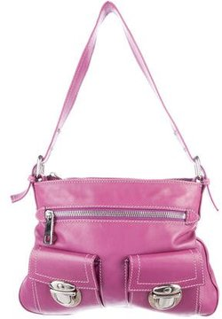 Marc Jacobs Leather Sophia Bag - PURPLE - STYLE