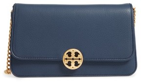Tory Burch Chelsea Convertible Leather Clutch - Blue