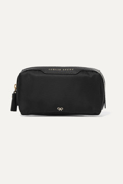 Anya Hindmarch Girlie Stuff Leather-trimmed Shell Cosmetics Case - Black