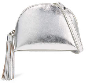 Loeffler Randall Tasseled Metallic Textured-leather Shoulder Bag - Silver