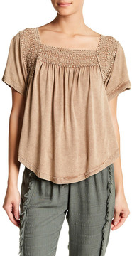 Anama Crochet Back Tie Blouse