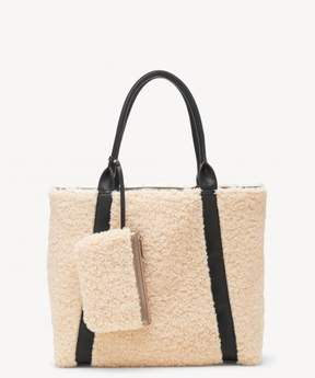 Sole Society Drury Tote Sherpa Mix Tote