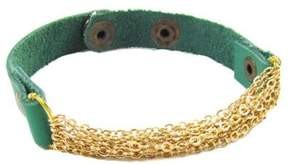 Ananda Green Leather Chain