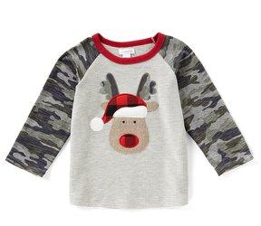 Mud Pie Baby Boys 12-24 Months Christmas Reindeer Tee