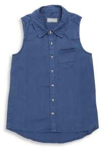 Tractr Girl's Sleeveless Collared Shirt