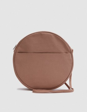 Large Canvas Circle Purse in Fawn