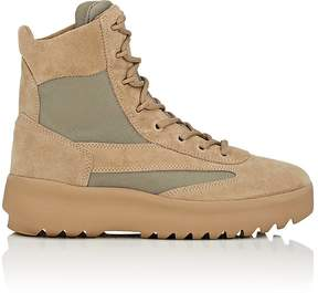Yeezy Men's Suede & Nylon Military Boots