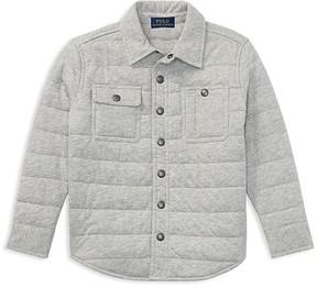 Ralph Lauren Childrenswear Boys' Quilted Shirt Jacket - Little Kid