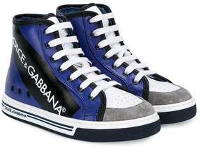 Dolce & Gabbana panelled hi-top sneakers
