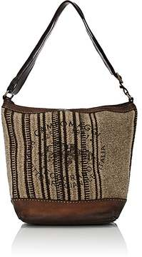 Campomaggi CAMPOMAGGI WOMEN'S BLANKET-STITCH LARGE SHOULDER BAG