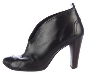 CNC Costume National Leather Cap-Toe Booties