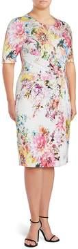 Basler Women's Floral-Print Sheath Dress
