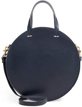 Clare Vivier Petite Alistair Leather Circular Crossbody Bag