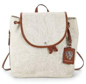 Tommy Bahama Leaf Drawstring Backpack
