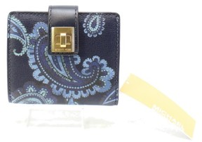 Michael Kors Blue Paisley Printed Natalie Bifold Turnlock Wallet - BLUES - STYLE