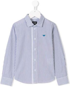 Emporio Armani Kids striped shirt