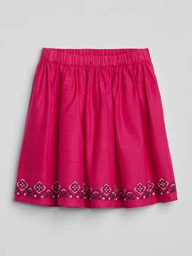 Gap Embroidered Flippy Skirt