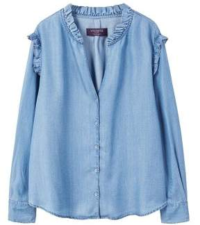 Violeta BY MANGO Ruffled blouse