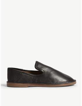 Joseph Leather slip on flats