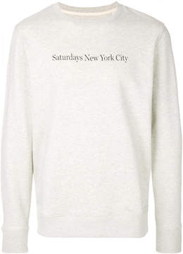 Saturdays NYC logo patch sweatshirt