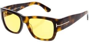 Tom Ford Men's Mirrored Stephen FT0493-52E-54 Brown Square Sunglasses