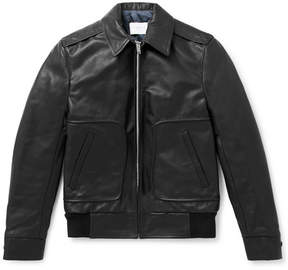 Sandro Leather Blouson Jacket