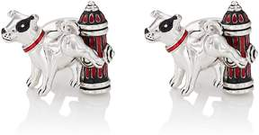 Jan Leslie Men's Dog & Fire Hydrant Cufflinks