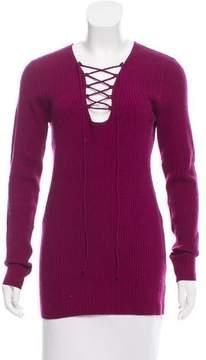 Autumn Cashmere Long Sleeve Lace-Up