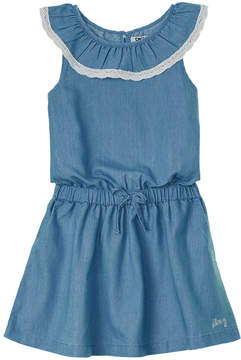 DKNY Girls' Lace-Trim Dress
