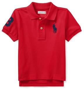 Ralph Lauren | Cotton Mesh Polo Shirt | 18-24 months | Deep orangey red
