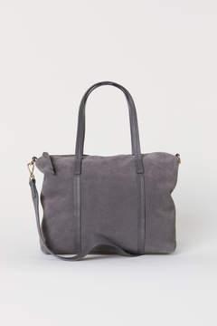H&M Suede Handbag - Gray