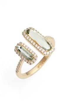 Bony Levy Women's Iris Diamond & Semiprecious Stone Open Ring (Nordstrom Exclusive)