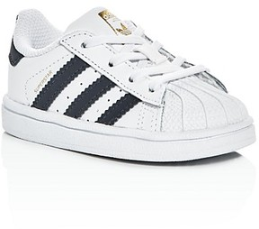 Adidas Unisex Superstar Lace Up Sneakers - Walker, Toddler