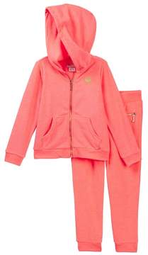 Juicy Couture Coral Terry Hoodie & Pant Set (Little Girls)