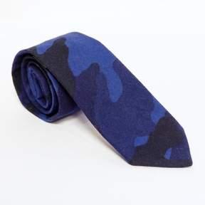 Blade + Blue Blue & Black Camouflage Print Tie