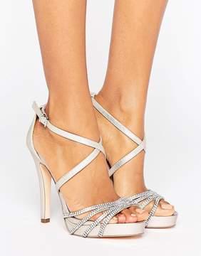 Faith Leslie Embellished Strap Heeled Sandals