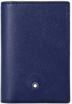 Montblanc Sartorial Leather Business Card Holder - Indigo