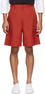 Acne Studios Red Port Shorts