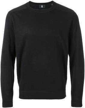 Kent & Curwen bonded knit shoulder jumper