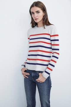 Velvet by Graham & Spencer JORGIE CASHMERE STRIPE SWEATER
