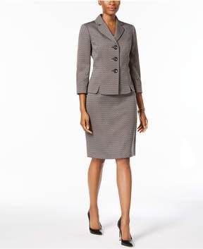 Le Suit Diamond-Jacquard Skirt Suit