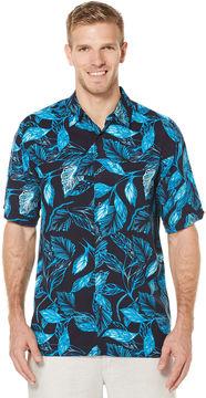 Cubavera Short Sleeve Allover Tropical Print Shirt