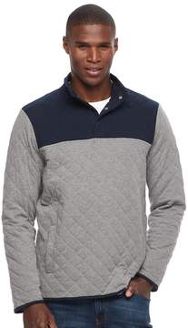 Croft & Barrow Men's Classic-Fit Outdoor Quilted Mockneck Pullover