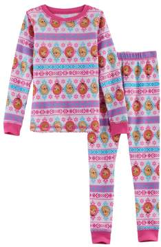 Cuddl Duds Disney's Frozen Toddler Girl 2-pc. Elsa & Anna Thermal Base Layer Top & Pants Set by