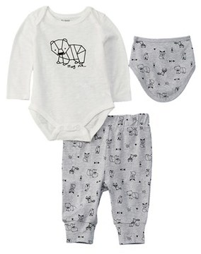 Petit Lem Baby Boys' 3pc Diaper Shirt Set.